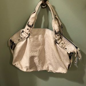 Kenneth Cole Cream Leather Satchel